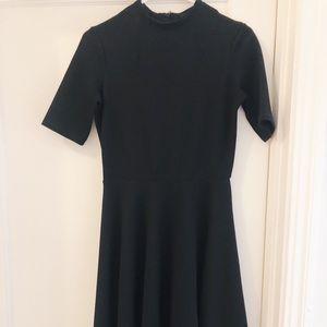 ASOS midi waffle black dress